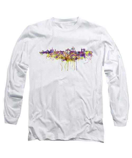 Brussels Skyline Silhouette Long Sleeve T-Shirt
