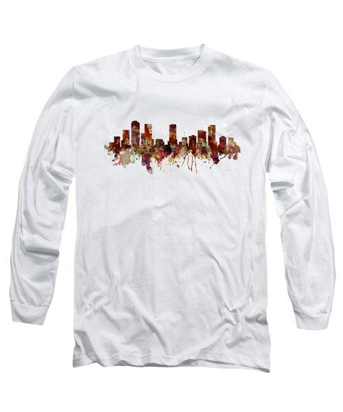 Denver Skyline Silhouette Long Sleeve T-Shirt