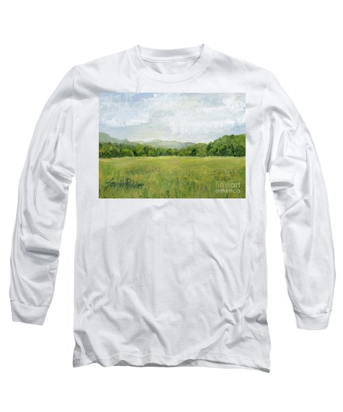 Fields Meet Mountains Long Sleeve T-Shirt