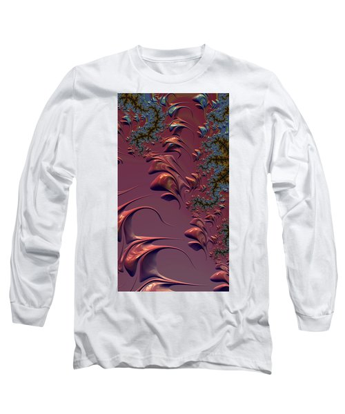 Fractal Playground In Pink Long Sleeve T-Shirt