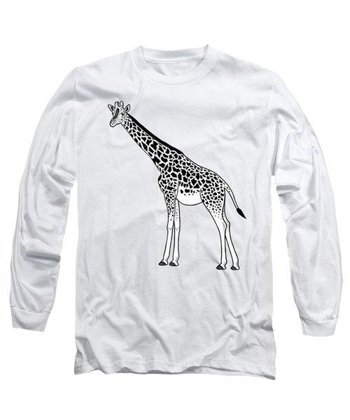 Giraffe - Ink Illustration Long Sleeve T-Shirt