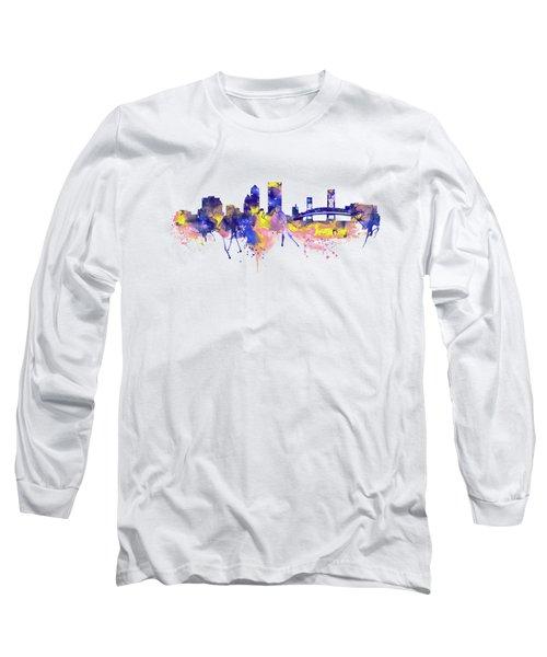 Jacksonville Skyline Silhouette Long Sleeve T-Shirt
