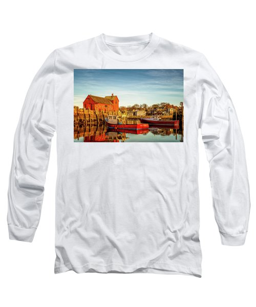 Low Tide And Lobster Boats At Motif #1 Long Sleeve T-Shirt
