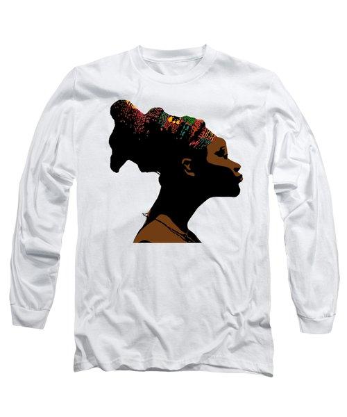 Mangbetu Woman Long Sleeve T-Shirt