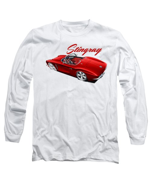Red Stingray Long Sleeve T-Shirt