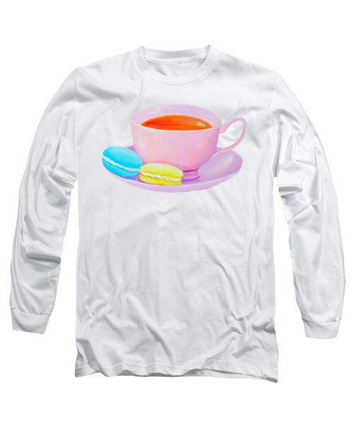 Tea And Macaroons Long Sleeve T-Shirt