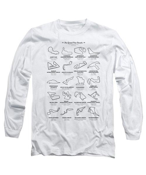 The Grand Prix Circuits Long Sleeve T-Shirt