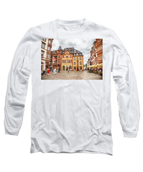 Trier, Germany,  People By Market Day Long Sleeve T-Shirt