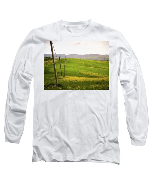 Tuscan Landscapes. Hills In The Spring Long Sleeve T-Shirt