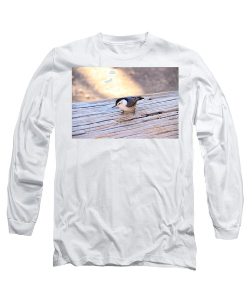 White Breasted Nuthatch Long Sleeve T-Shirt