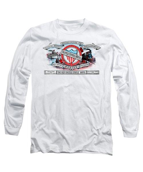 1886 United States Hotel Of Boston Long Sleeve T-Shirt