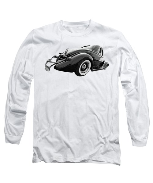 1935 Ford Coupe In Black And White Long Sleeve T-Shirt