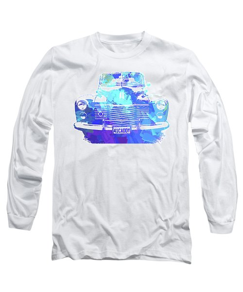 1941 Cadillac Front Abs Blue Long Sleeve T-Shirt