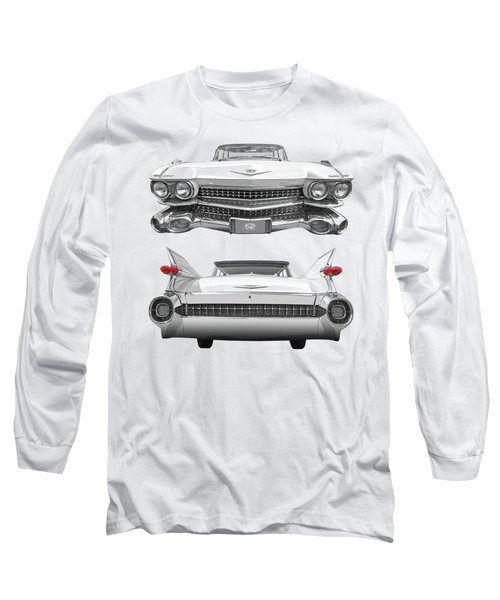 1959 Cadillac Front And Rear Vertical Long Sleeve T-Shirt