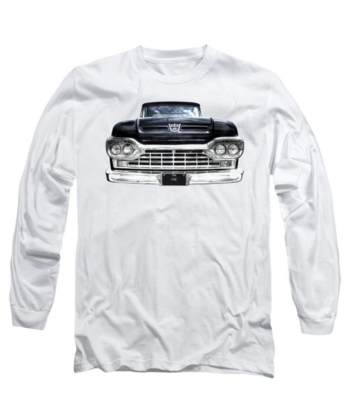 1960 Ford F100 Pick Up Head On Long Sleeve T-Shirt