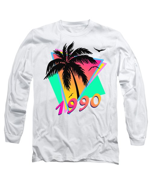 1990 Cool Tropical Sunset Long Sleeve T-Shirt