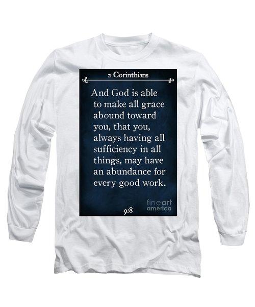 2 Corinthians 9 8-bible Verse Wall Art Collection Long Sleeve T-Shirt