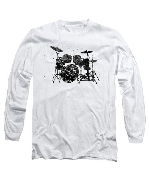 Drums-black Long Sleeve T-Shirt