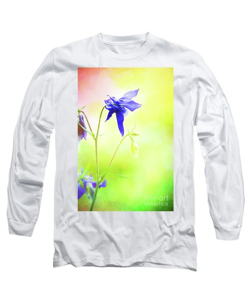 Painted Purple Columbine 2 Long Sleeve T-Shirt