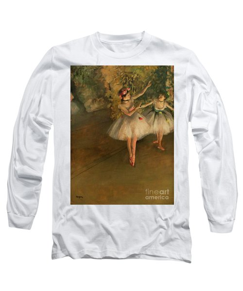 Two Dancers On A Stage Long Sleeve T-Shirt