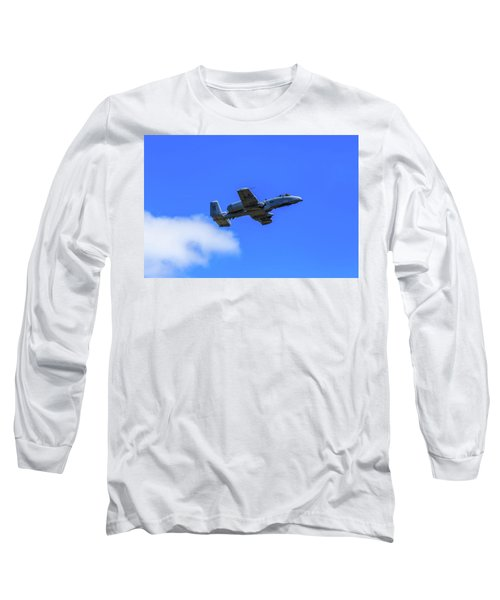 A-10c Thunderbolt II In Flight Long Sleeve T-Shirt