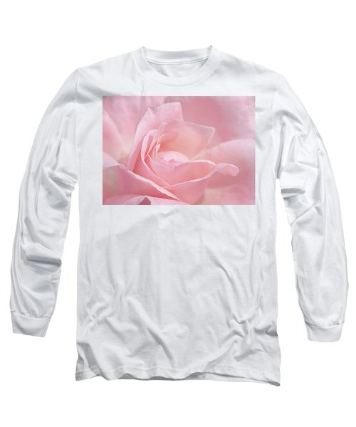 A Delicate Pink Rose Long Sleeve T-Shirt