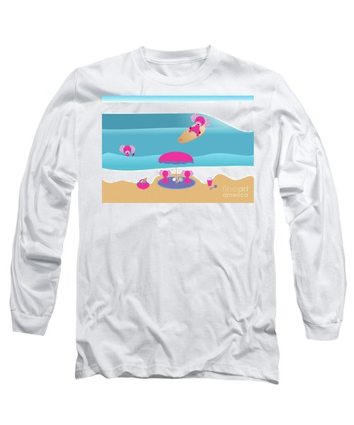 A Dog Family Surf Day Out Long Sleeve T-Shirt