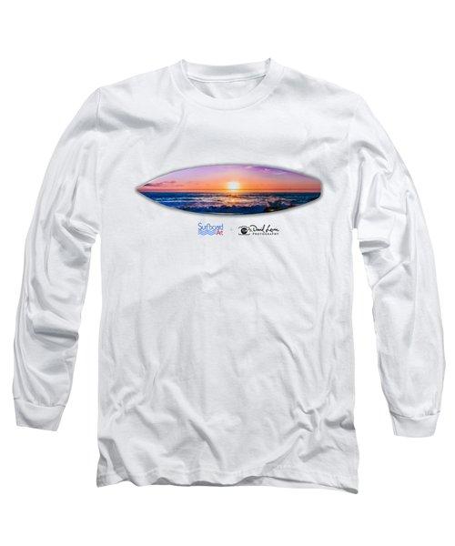 A Purple Orange Majestic Sunset For T-shirts Long Sleeve T-Shirt