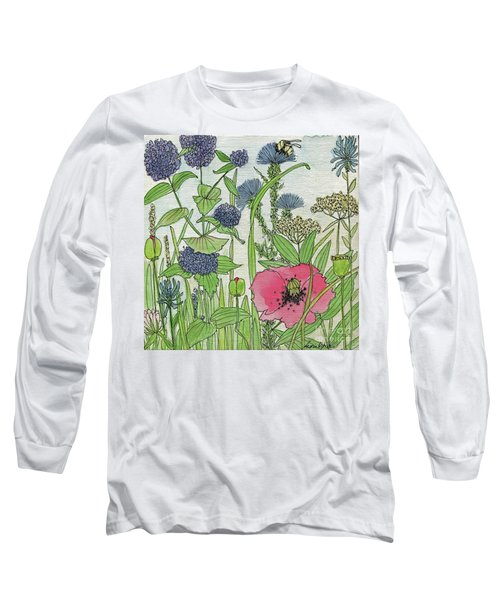 A Single Poppy Wildflowers Garden Flowers Long Sleeve T-Shirt