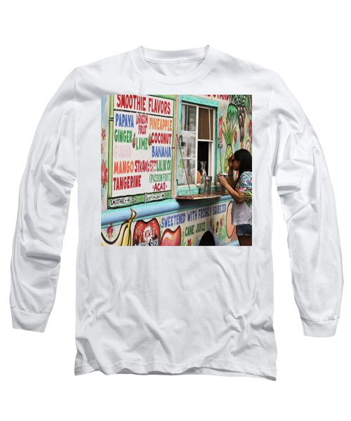 A Smoothie Truck At A Roadside Fruit Stand, Maui, Hawaii Long Sleeve T-Shirt