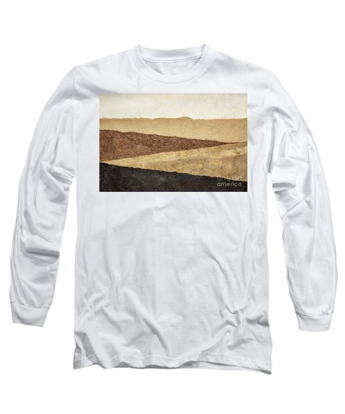 Abstract Landscape In Earth Tones Long Sleeve T-Shirt