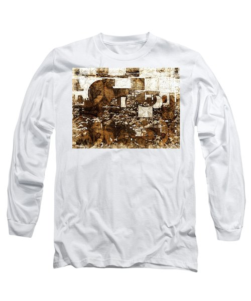 Abstract Map Long Sleeve T-Shirt