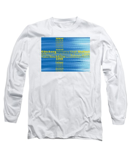 Abstract Swedish Flag  Long Sleeve T-Shirt
