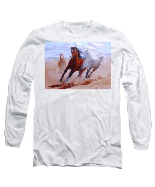 Adventurous Horses Long Sleeve T-Shirt