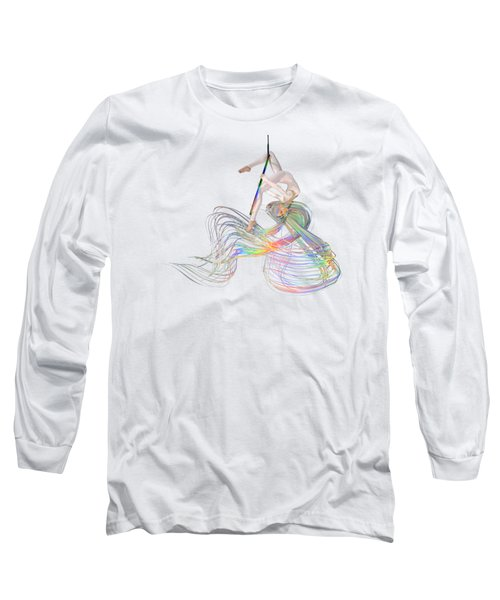 Aerial Hoop Dancing Ribbons For Her Hair Png Long Sleeve T-Shirt