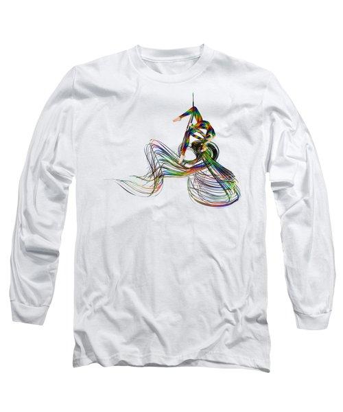 Aerial Hoop Dancing Ribbons Of Hair Png Long Sleeve T-Shirt
