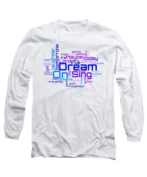 Aerosmith - Dream On Lyrical Cloud Long Sleeve T-Shirt