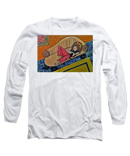 Aj On The Couch Long Sleeve T-Shirt