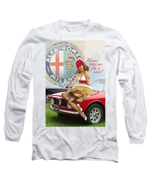 Alfa Giulia Sprint Gt Babe Long Sleeve T-Shirt