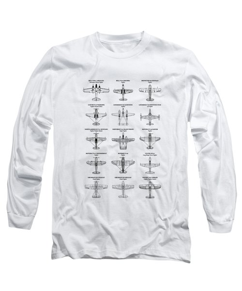 American Fighters Of Ww2 Long Sleeve T-Shirt