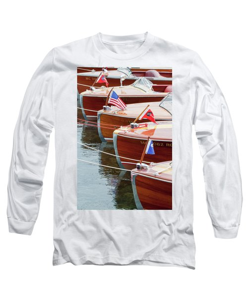 Antique Wooden Boats In A Row Portrait 1301 Long Sleeve T-Shirt