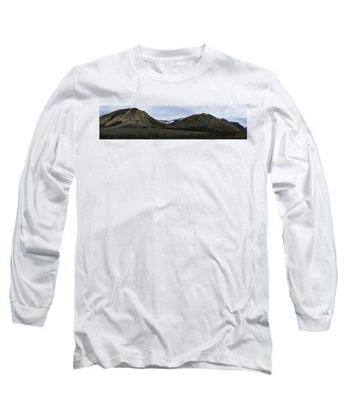 Arctic Mountain Landscape Long Sleeve T-Shirt