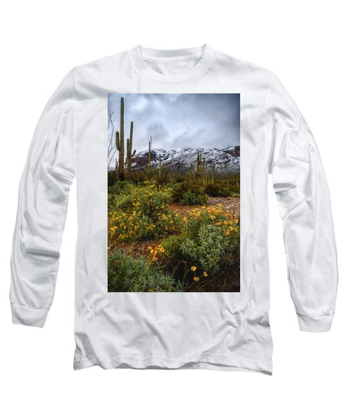 Arizona Flowers And Snow Long Sleeve T-Shirt
