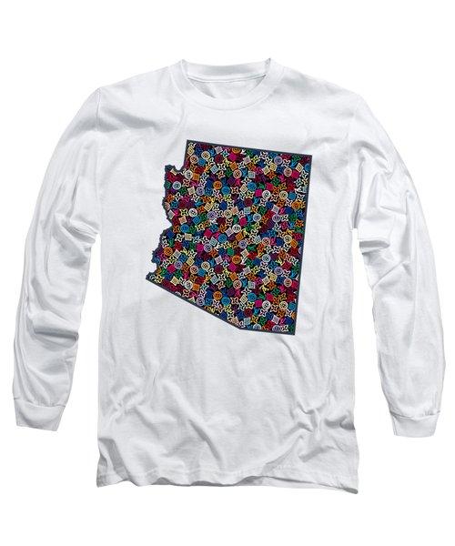 Arizona Map - 1 Long Sleeve T-Shirt