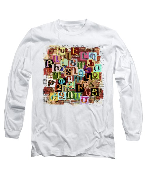 Armenian Textural Alphabet Long Sleeve T-Shirt