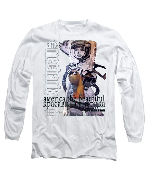 arteMECHANIX 1913 AMERICA THE BEAUTIFUL GRUNGE Long Sleeve T-Shirt