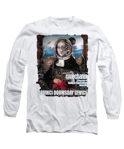 arteMECHANIX 1918 DAVINCI DOOMSDAY DEVICE  GRUNGE Long Sleeve T-Shirt