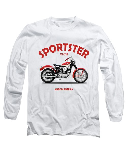 The Vintage Sportster Motorcycle Long Sleeve T-Shirt