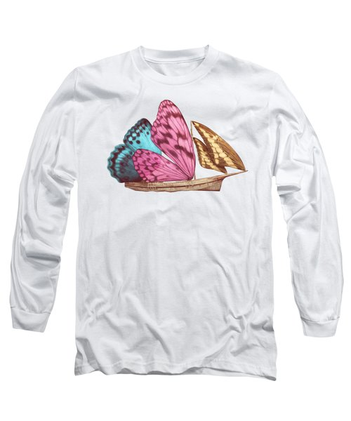 Butterfly Ship Long Sleeve T-Shirt