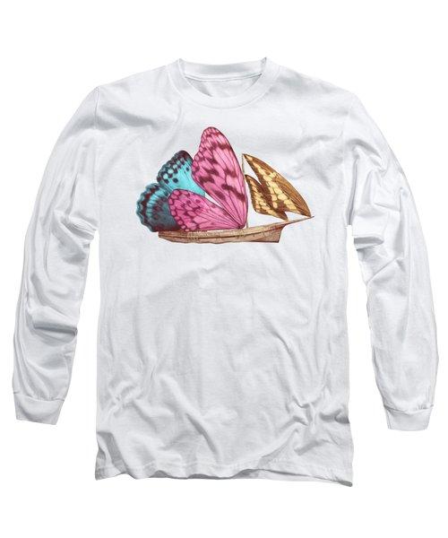 Butterfly Ship Long Sleeve T-Shirt